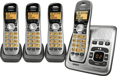 NEW Uniden DECT1735+3 Cordless Phone Quad Pack