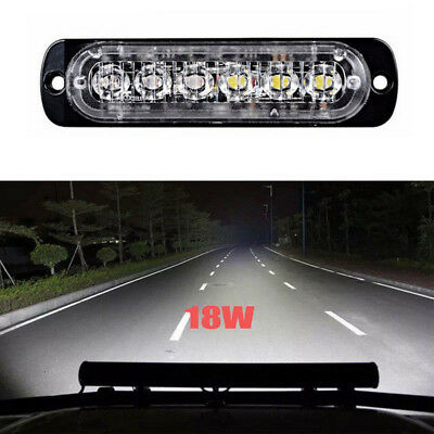 18W  LED Light Work Bar Lamp Driving Fog Offroad SUV 4WD Auto Car Boat Truck