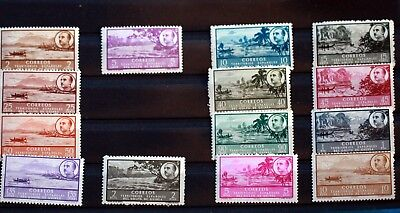 Guinee Espagnol Serie Incomplete 14 Timbres Neufs ** Mnh 88M713