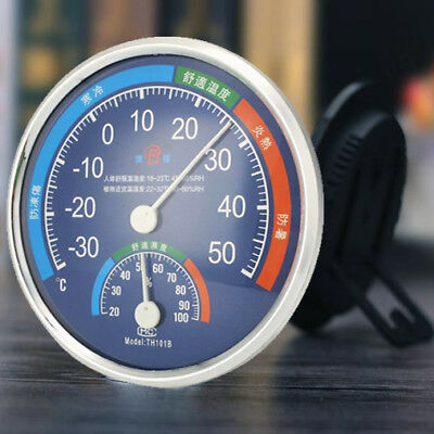 Large 127mm Round Thermometer Hygrometer Temperature Wet Humidity Monitor Meter