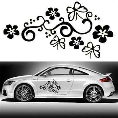 2pcs Butterfly Flower Vinyl Car Graphics Window Stickers Decal Cars Decorations