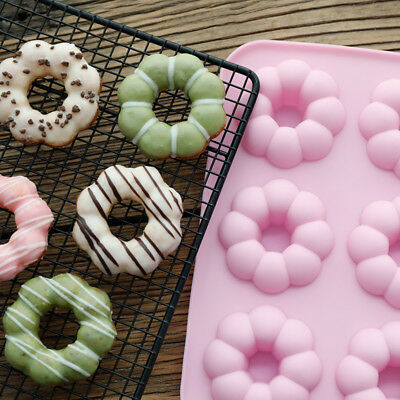 Flower 6-Cavity Silicone Donut Baking Pan/Non-Stick Donut Mold Fit Oven Safe