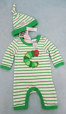 The Very Hungry Caterpillar, Size 0000 Baby Set, New Tags Licensed Eric Carle