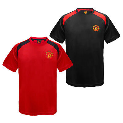 Manchester United FC Official Football Gift Boys Poly Training Kit T-Shirt