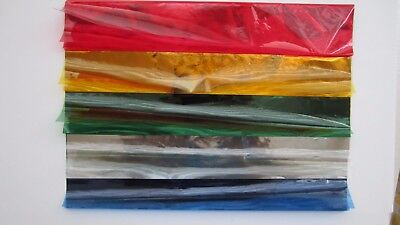 Cellophane Sheets A5 x 40 Red, Gold, Green, Silver, Blue Freepost