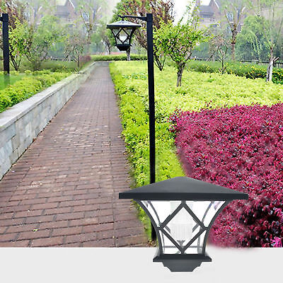 LED Solar Powered 5 ft Traditional Garden Lamp Post Lamppost Lantern Light Decor