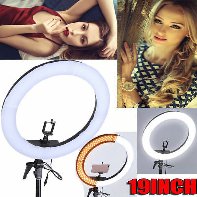 "19"" SMD LED Ring Light 5500K Dimmable Continuous Lighting Photo Video Stand Kit"