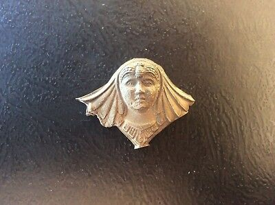 c19th Antique Art Nouveau Deco White Metal Pendant Egyptian Egyptianesque c1900