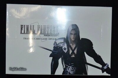 Final Fantasy Trading Card Game Opus 3 Factory Sealed Booster Box!
