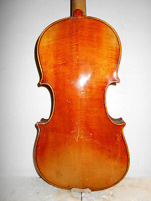 "Vintage Old Antique ""Stradiuarius"" 2 Pc. Back Full Size Violin"