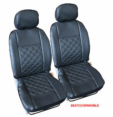 RENAULT LEATHER LOOK KNIGHTSBRIDGE FRONT CAR SEAT COVERS Clio Modus Spider Zoe