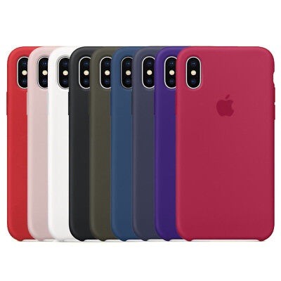 Genuine Official Hard Silicone Case Cover For Apple iPhone X / 8/ 8 Plus Boxed