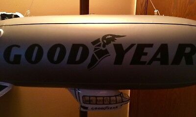 "NEW Goodyear Inflatable Blimp Silver 32"" string, 2 patches, instructions,NIP"