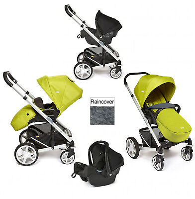 New Joie Green Chrome Plus Travel System Silver Frame From Birth