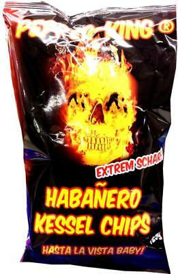 (100g=2,22€) Pepper-King Habanero Kessel Chips - Extrem scharf - Chili Paprika