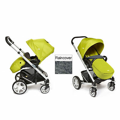 New Joie Green Chrome Plus Silver Frame Pushchair Baby Stroller From Birth