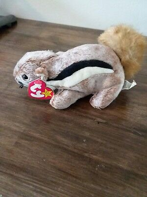 Ty Beanie Baby 1999 CHIPPER the Chipmunk EXCELLENT CONDITION