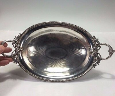 Ornate 13 Loth German .812 Purity Silver Guilloche Work Handled Bowl on Feet