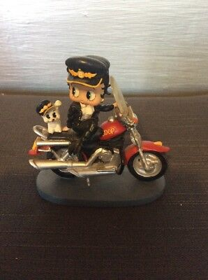 betty boop collectible figurines motorcycle Dog
