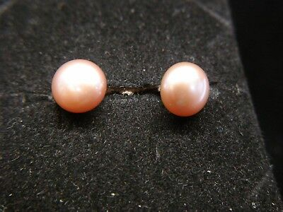 Honora 14k White Gold Lever Back Freshwater Pearl Earrings Peach