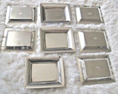 Tiffany & Co. Sterling Silver Ashtrays Lot of 8 - Very Good Style 20958