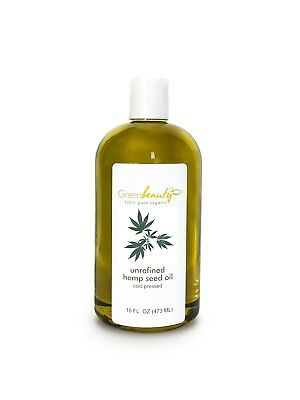 Hemp Seed Oil Unrefined Virgin Organic Cold Pressed Raw 100% Pure Free Shipping