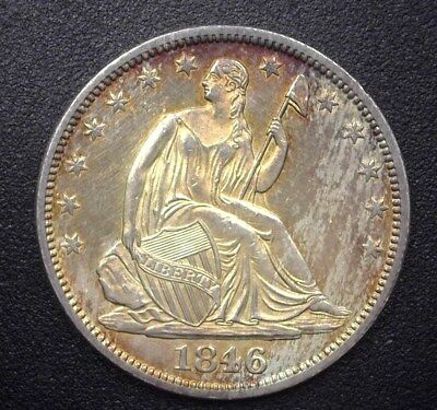1846-O Seated Liberty Silver 50 Cents  Near Gem Uncirculated