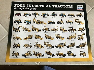 Ford Industrial Tractors trough the years Poster 1957--1990