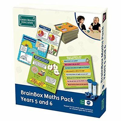 Green Board Games Brainbox Educational Learning Maths Pack Years 5 and 6 KS2