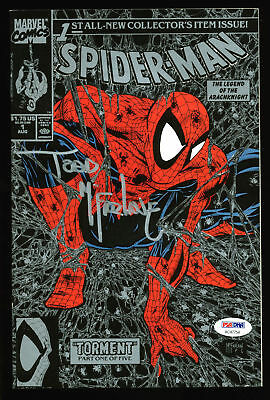 Todd McFarlane Signed Marvel Spider-Man 1990 Torment #1 Comic Book PSA #AC47754