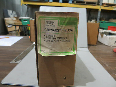 GE CR2960SY139D3A New 300 Amp 600V 300A 3P Power Terminal Board Block