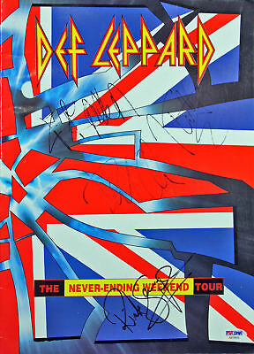 Def Leppard (4) Elliott, Allen, Savage, Collen Signed 1993 Program PSA #AB10693