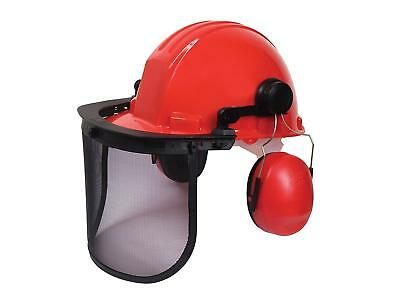 Vitrex 334141 Forestry Kit, Helmet, Visor and Earmuffs - SALE PRICE RED