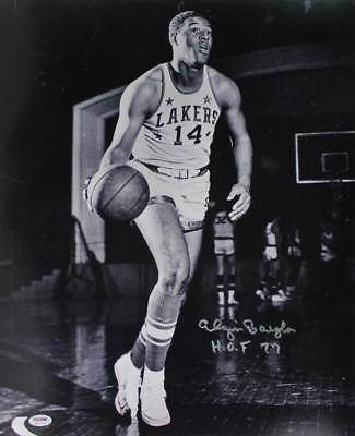 Lakers Elgin Baylor 'HOF 77' Signed Authentic 16X20 B&W Photo PSA/DNA ITP