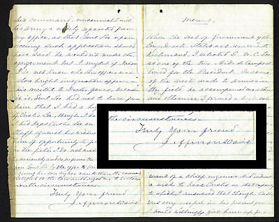 Jefferson Davis Signed 6x9.5 Letter Hand Written By His Wife Varina BAS #A81096