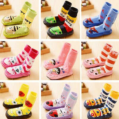 Cute Baby Kids Toddler Socks Anti-slip Sock Shoes Boots Indoor Floor Slipper US