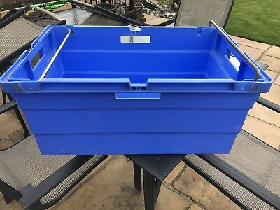 large Plastic Stacking Crates 70cm Long X 48cm Wide X 33cm high