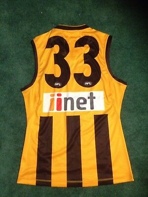 Cyril Rioli Hawthorn Player Issue Guernsey Jumper And Photo