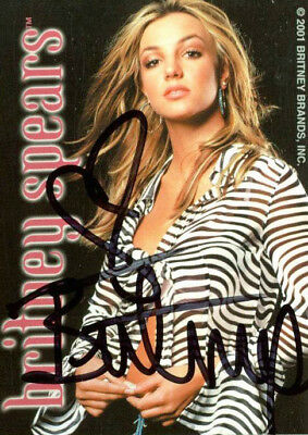 Britney Spears Authentic Vintage Signed Trading Card Autographed JSA #K55379