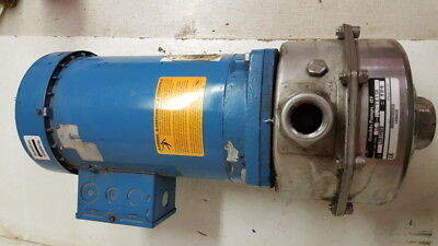 Goulds Stainless Steel Pump 1x1 1/4 w/ 3HP Emerson Motor