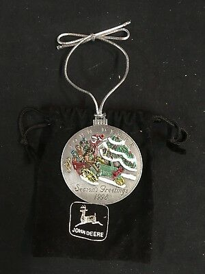 JOHN DEERE PEWTER CHRISTMAS ORNAMENT, 1998, #3 in the Series, Collectible