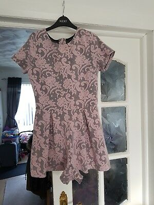 girls pink lace short playsuit age 14 years from Matalan