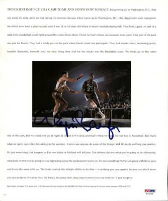 Lakers Elgin Baylor Authentic Signed 10X12 Magazine Page Photo PSA/DNA #T76009