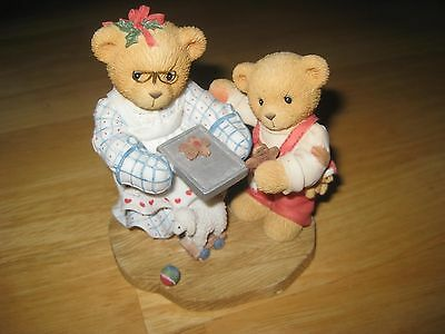 Cherished Teddies Christmas Figurine Pamela & Grayson Love To Warm Your