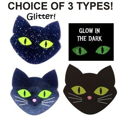 USA Ship!~Glow in The Dark Black Cat Breast Nipple Cover Rave Sexy Satin Pasties