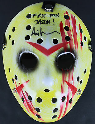 """Ari Lehman Friday The 13th """"First F'n Jason!"""" Authentic Signed Blood Mask BAS"""