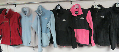 Lot Of 12 Womens The North Face Jackets Denali Blue Pink Brown Black Adult Sm-M
