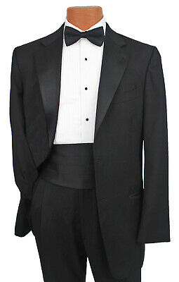 Classic Black Joseph Abboud Soft Luxury Wool 2 Button Notch Tuxedo Prom Package