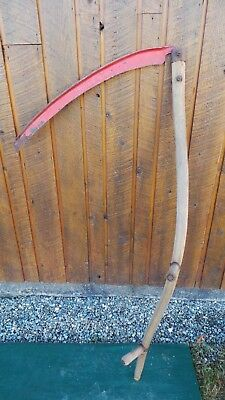 ANTIQUE Antique Scythe Hay Grain Sickle Farm Tool Blade 28 Long AMERICAN CLIPPER