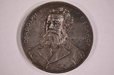 1816-1893 Adolf Fischhof Silver Medal Austrian Hungarian Physician Adolph